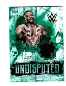 WWE-Big-E-2018-Topps-Undisputed-Green-Shirt-Relic-Card-SN-50-of-50
