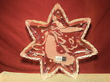"Mikasa Crystal Angel Music 12 1/2"" Star Server Germany NIB"