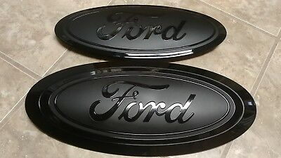 2009-14 Ford F150 fx4 ecoboost  rear camera emblem AND housing Gloss Black