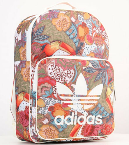 Rugzak Womens Adidas Originals Farm Gym Classic Tas School Floral Multicolor Mens Trefoil Qtsrdh