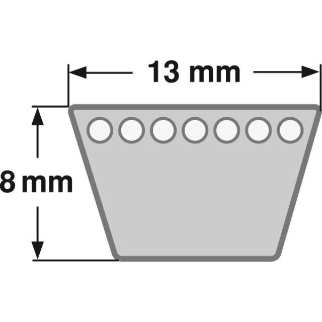 Klassischer Keilriemen Profil (A) 13 mm DIN 2215 von 1320 mm bis 2768 mm