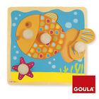 Goula Wooden 4pce Peg Puzzle Fish