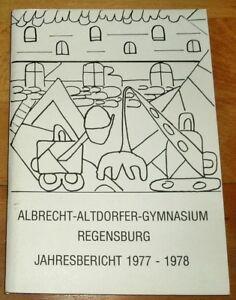 Regensburg-1977-78-Jahresbericht-Albrecht-Altdorfer-Gymnasium-Geschenk-Abi