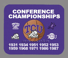 Item#3707 TCU Horned Frogs Basketball Championship Banner Mouse Pad