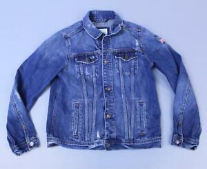 Abercrombie-amp-Fitch-Boy-039-s-Long-Sleeve-Button-Up-Jean-Jacket-SH3-Blue-Size-15-16