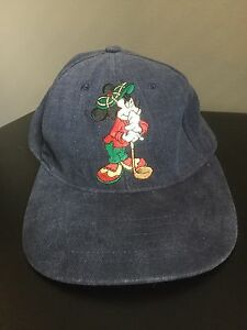 Image is loading Rare-Mickey-Mouse-Golf-Baseball-Hat-Cap-Disney- 7d2d10e9a97