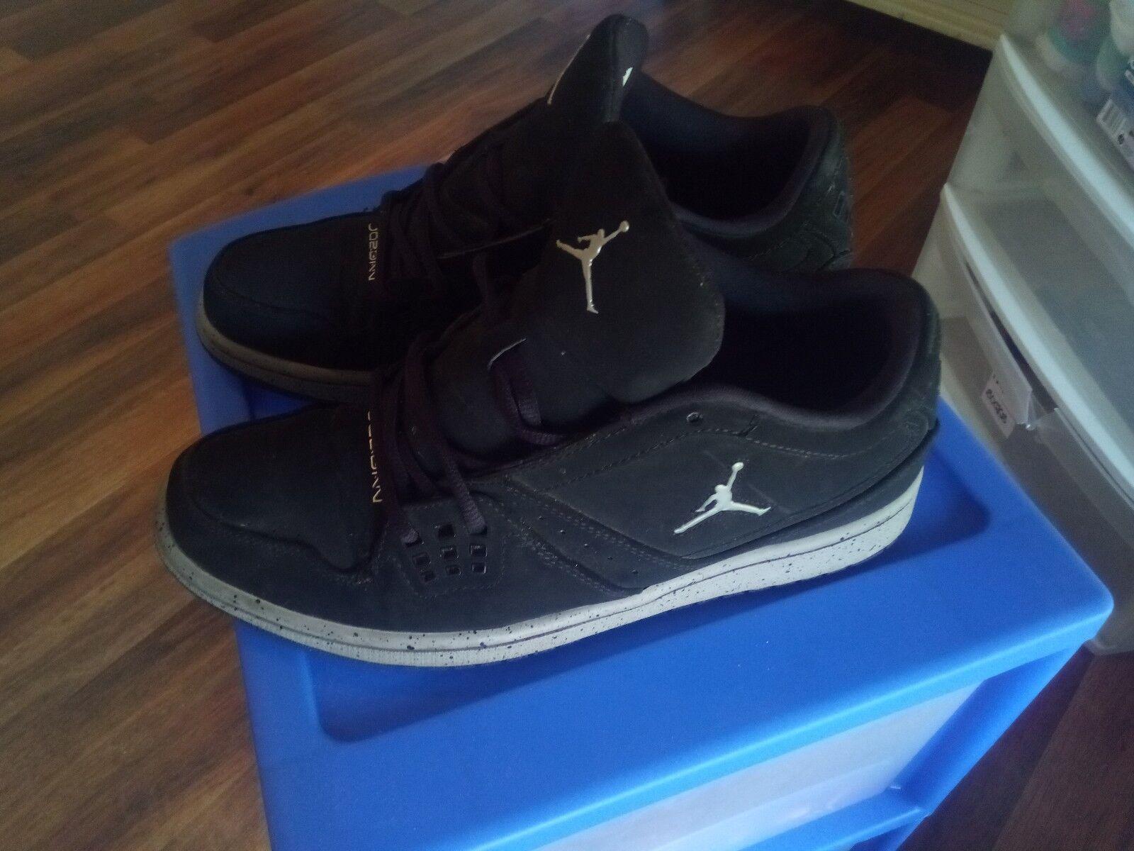 Nike Air Jordan Retro Men's shoes Size 10 Black Grey Discontinued.