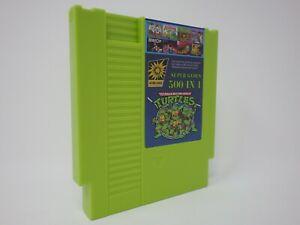 Super-Games-500-in-1-Nintendo-NES-Cartridge-Multicart-TMNT-MUTAGEN-GREEN