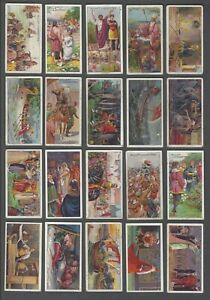 1912-Wills-039-s-Cigarettes-Historic-Events-Tobacco-Cards-Complete-Set-of-50