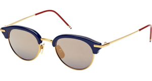 4ead687a415 Authentic THOM BROWNE 706 B-T-NVY-GLD Sunglasses Navy Shiny 18K Gold ...