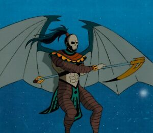 X-Men-Death-Production-Cel-Marvel-1992-Animated-Series-D12-Menacing-with-scythe