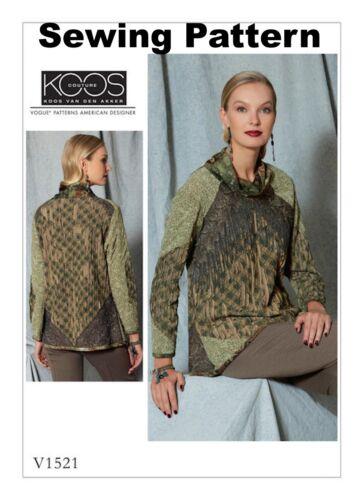 BN Misses Top Vogue V1521 Koos van den Akker PATTERN Size 6-22