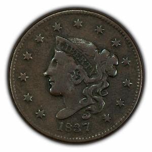 1837 1c Coronet Head Large Cent SKU-X1566