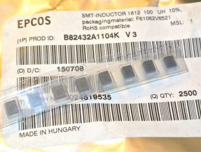 100uH 145mA SMD 1812 INDUCTOR B82432A1104K EPCOS ROHS [QTY=10pcs]