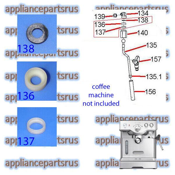 Replacement Steam Arm Seal Kit for Breville Espresso Machines 800ES BRE800ESXL