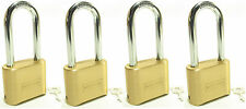 Lock Brass Master Combination #175LH (Lot of 4) Long Shackle Resettable Secure