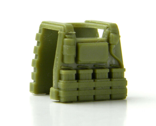 W216 Vest Tactical Police vest compatible w//toy brick minifigures Army Swat E1