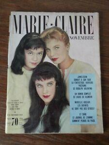 Magazine Marie Claire Nr 25 Novembre 1956 Mort James Dean Death Mode Fashion