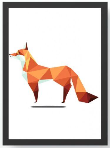 Bild DIN A4 A3 K0198 Polygonal Art Fuchs Kunstdruck Poster ungerahmt