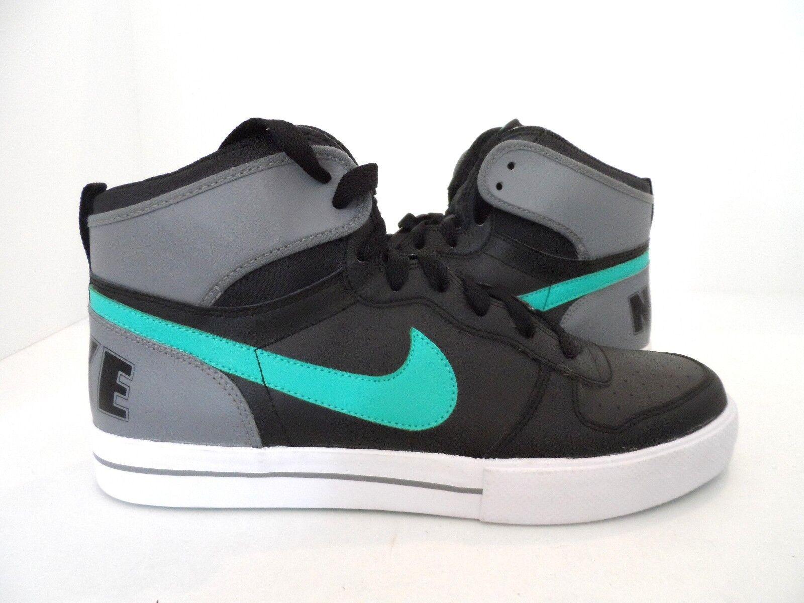 Nike Men's Big High AC Basketball Shoes Black Teal White Comfortable