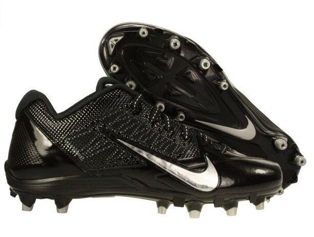 Para Hombre Nike Nike Hombre Alpha Pro TD fútbol tacos-Negro/plata-Nuevo En Caja 79180a