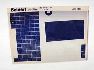 2019 Nouveau Style Yamaha Rd 350 _ Lc_ 1986 Microfilm Catalogue Des Pièces Pièce Rechange Liste Pour AméLiorer La Circulation Sanguine