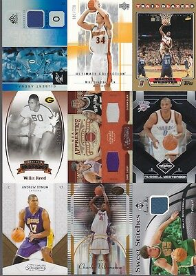 HUGE  CARD COLLECTION WHOLESALE BASKETBALL GAME USED AUTO # BOSH DIRK HOWARD
