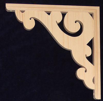 "L/&G/'s Victorian Gingerbread Fretwork Pine Arch Heart Corner Trim Bracket 10/"""