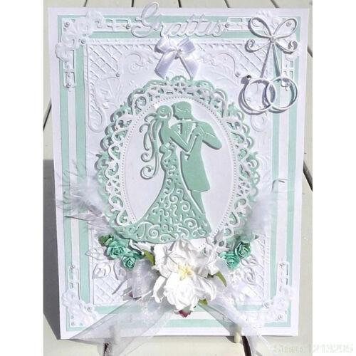 Romantic Dancing Lover Wedding Cutting Dies For Scrapbooking Card Craft Decor HU