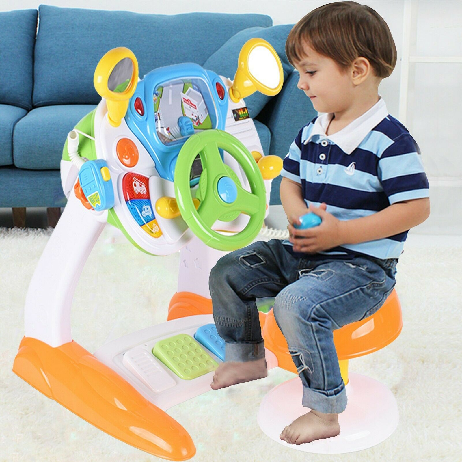 Kinder Elektronische Lenkrad Simulation Car Fahren Activity Spielzeug Petroleum