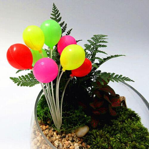 Garten Ornament Miniaturfigur Mini Ballon Pflanzen Märchen Puppenhaus Dekor AB