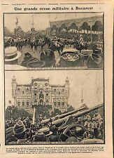 Military Parade Bucarest King Ferdinand I Queen Marie Prince Nicolae  WWI 1915