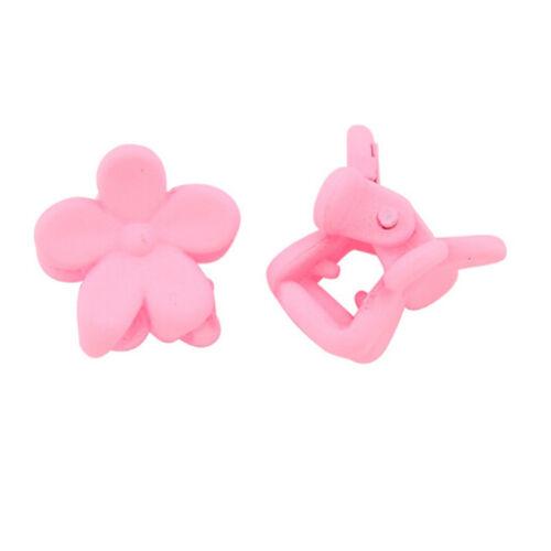 50 PCs Kids Baby Plastic Girls Haarspangen Mini Claw Hair Clips Klammer BlumRSDE