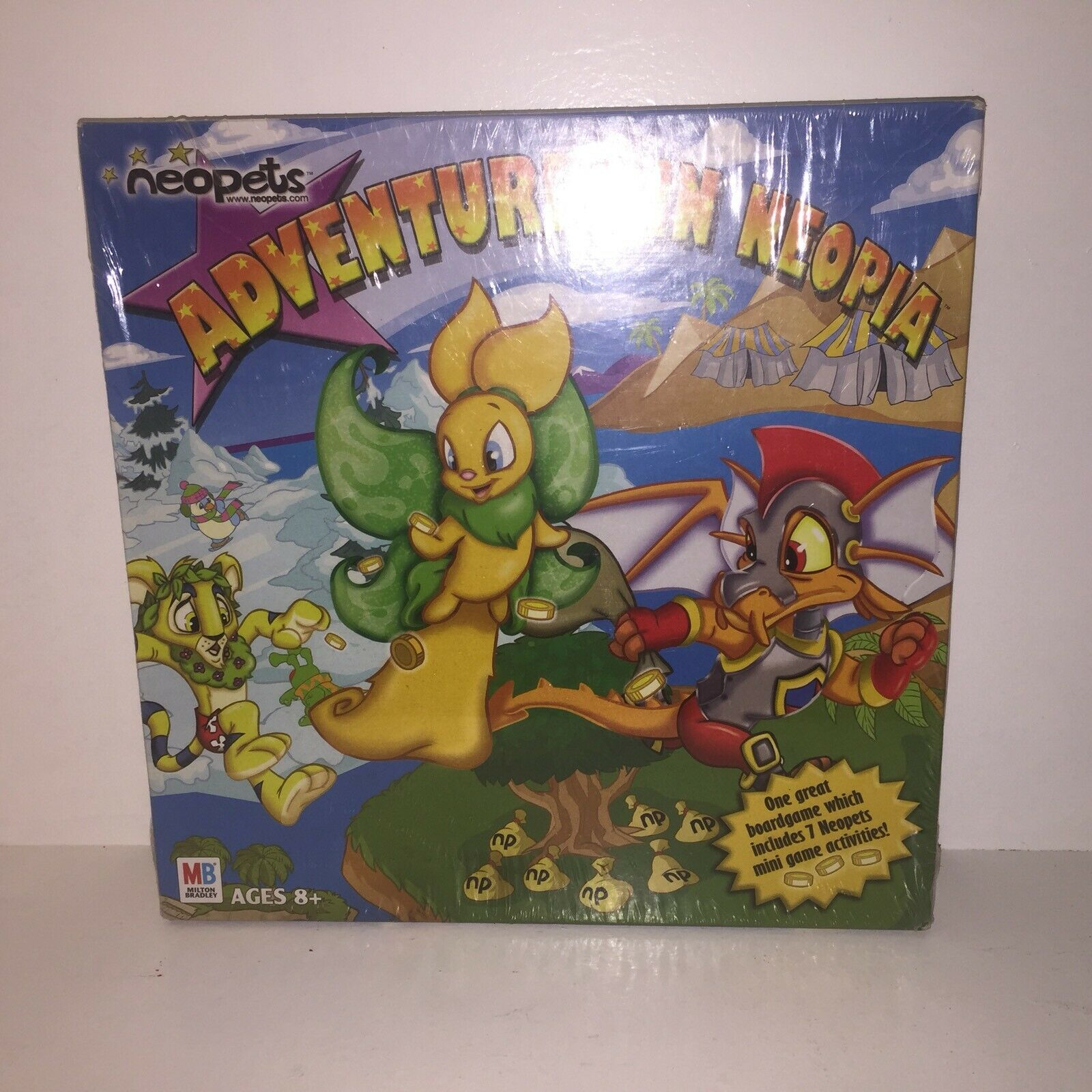 RARE Hasbro 2003 NEOPETS Adventures in Neopia Board Game NEW Sealed made in USA
