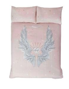 ANGEL WINGS PINK COTTON BLEND KING SIZE DUVET COVER