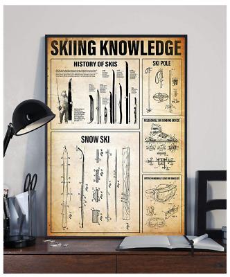 Photography Knowledge Black//White Satin Poster No Frame