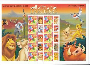 2003-04-Aust-The-Lion-King-Limited-Edition-Stamp-Pack-Mini-Sheet-SES-MNH