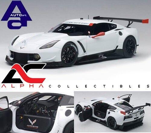 AUTOART 81650 1 18 Chevrolet Corvette C7.R Plain Couleur Version (Blanc)