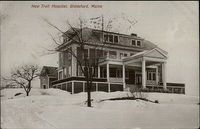 Biddeford Me New Trull Hospital In Winter C1910 Postcard Ebay