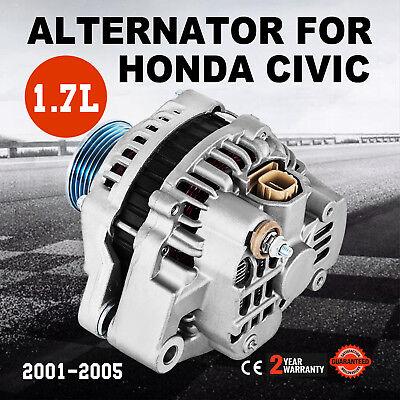 100 /% NEW ALTERNATOR FOR ACURA EL,HONDA CIVIC 01,02,03,04,05 *ONE YEAR WARRANTY*