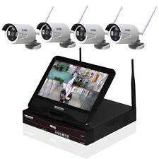 WLAN HD 4 Kanal Überwachungsset Kamera Nachtsicht Fernzugriff IP Monitor Funk