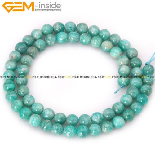 "Natural Stone Bluish Green Amazonite Gemstone Loose Bead For Jewelry Making 15/"""