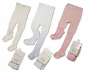 Baby Babies Infant Premature Tiny Girls Tights Party Hearts Pink White NB 3 12 M