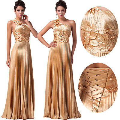 GLINT Gold DESIGNER Bridesmaid Masquerade Ball Gowns Evening Party Prom Dresses
