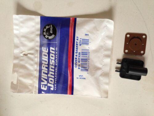 OMC 437228 Primer solenoid Cover /& GASKET EVINRUDE JOHNSON BRP NEW OEM