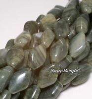 Mojito Green Rutile Quartz Gemstone Diamond Bicone 12x8mm Loose Beads 15.5