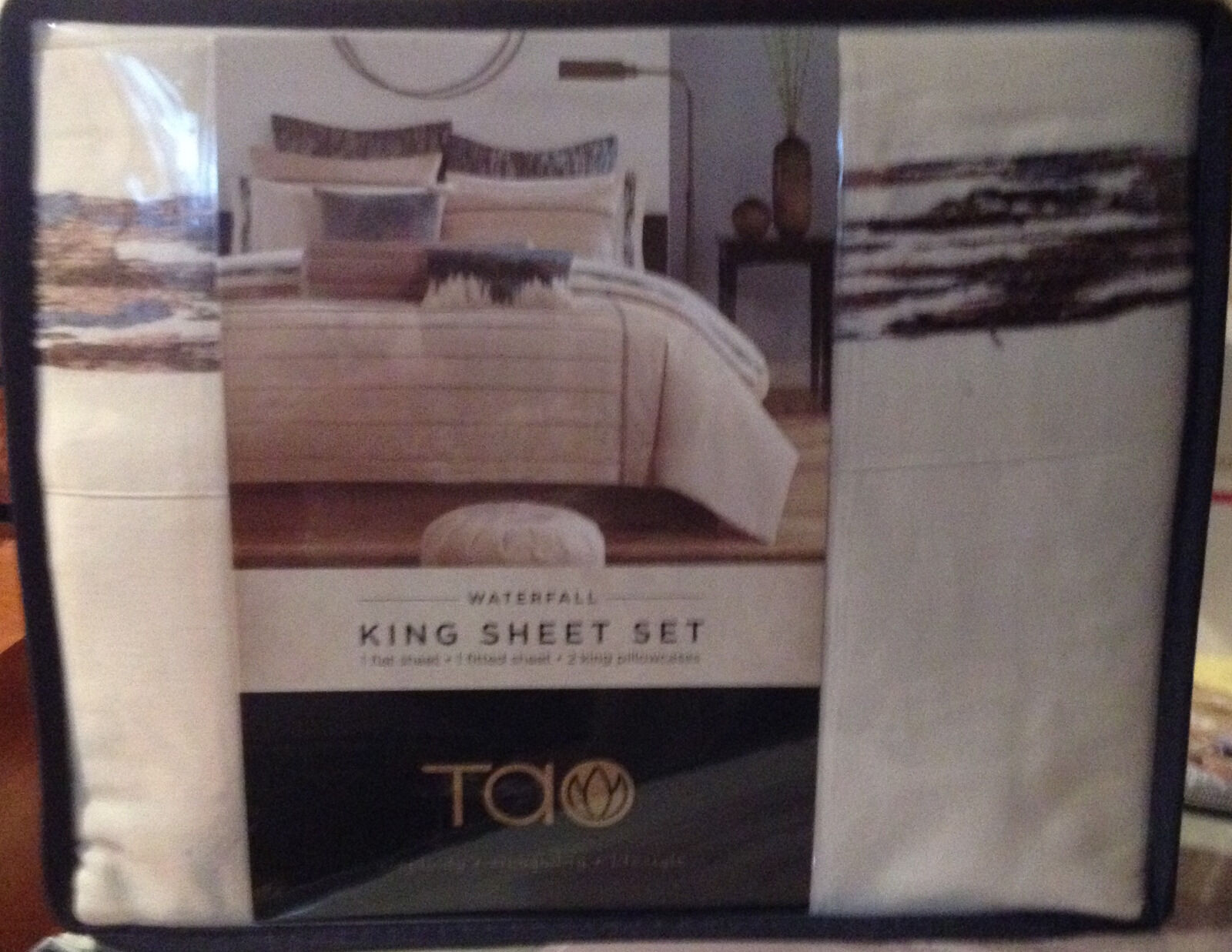 NEW TAO 4PCS KING SHEET SET - 100% COTTON SATEEN
