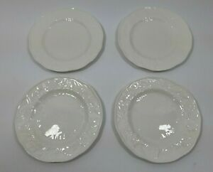 Set-of-4-Wedgwood-Strawberry-amp-Vine-Bread-amp-Butter-Plate-White-Collectible