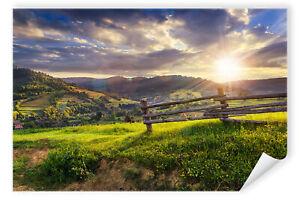 Postereck-Poster-2332-Landschaft-Berge-Sonne-Natur-gruen-Wolken-Wandern-Weg