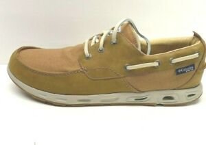 Columbia-PFG-Size-9-Tan-Boat-Shoes-New-Mens-Shoe